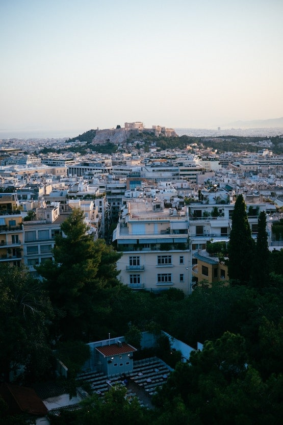 Athens city view in Greece