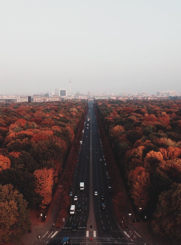 Central boulevard in Berlin