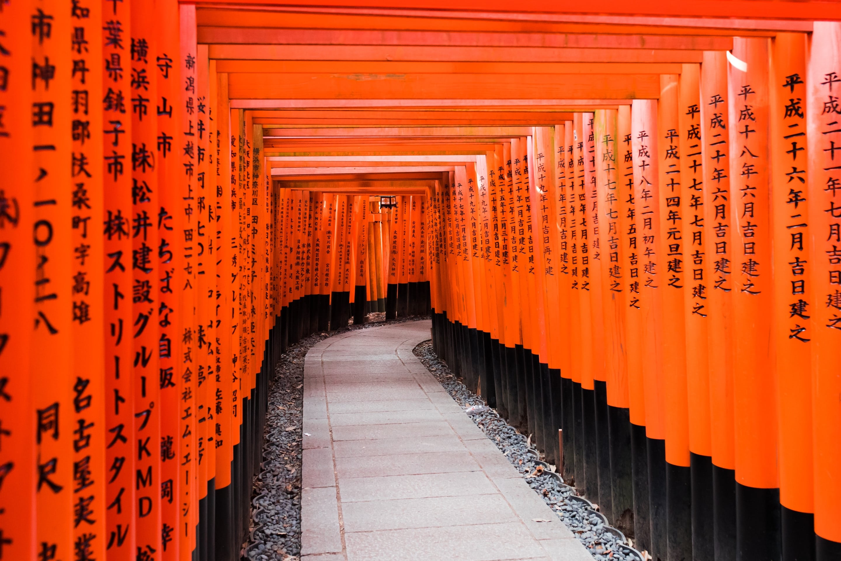 Traditional Japanese path