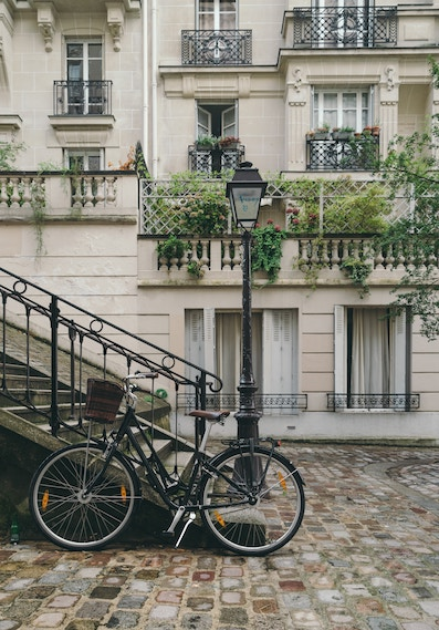 Typical Paris stairs to Montmartre